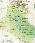 Map of Republic of Iraq