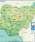 Map of Federal Republic of Nigeria