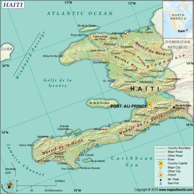 Map of Republic of Haiti