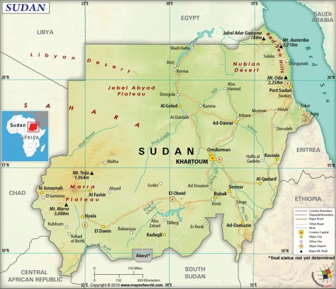 Map of Republic of the Sudan