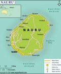 Map of Republic of Nauru