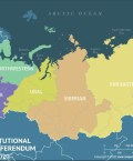 Map of Russia Highlighting Constitutional Amendment Referendum