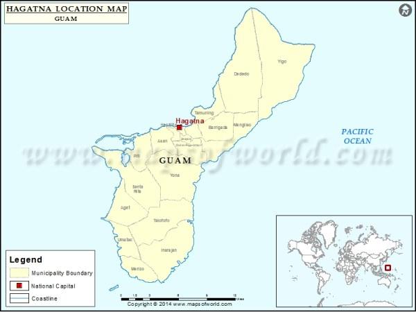 Where is Hagatna Location of Hagatna in Guam Map
