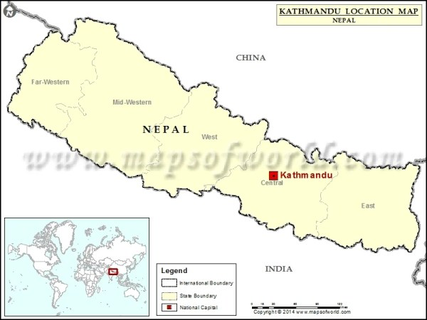 Where is Kathmandu Location of Kathmandu in Nepal Map