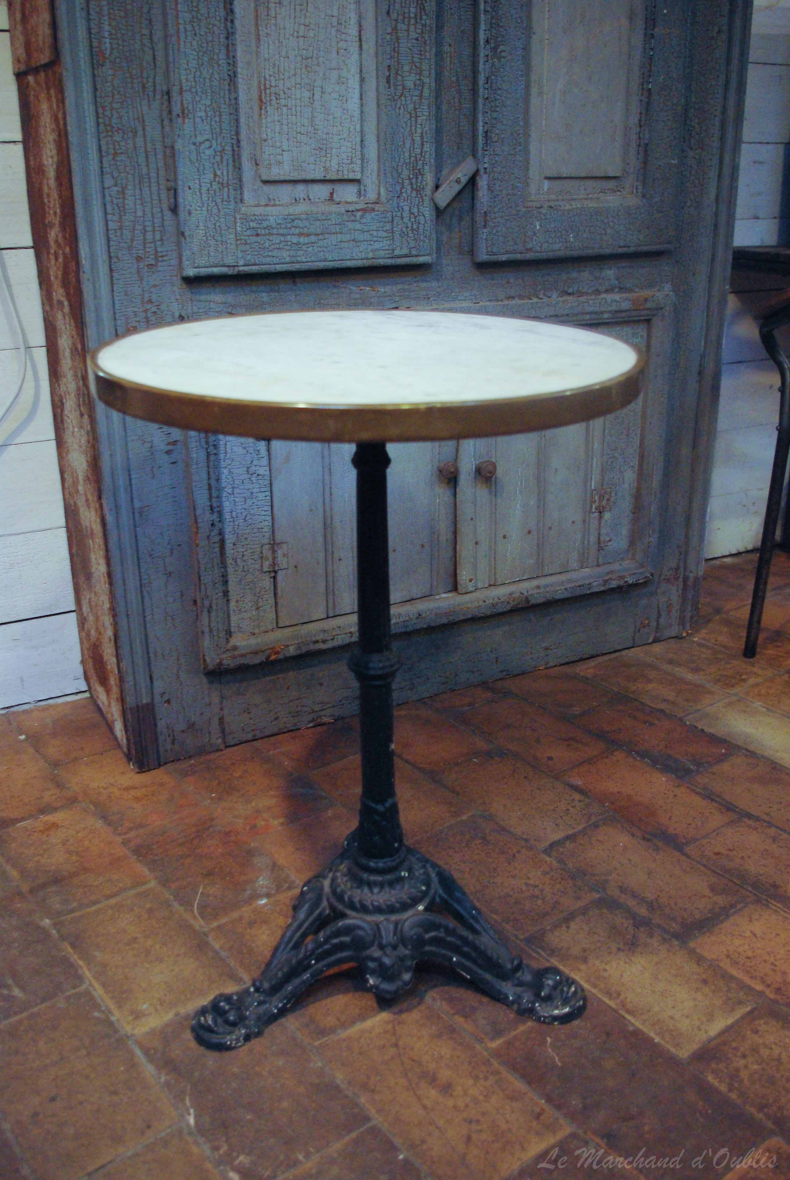 ancienne table bistrot