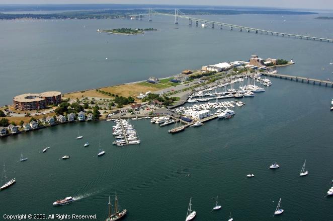Goat Island Marina In Newport Rhode Island United States