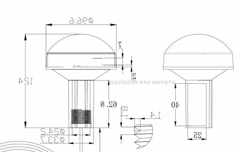 RS232 Marine GPS Receiver Antenna Module NMEA 0183