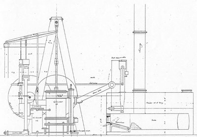 The Steamboat Frontenac's Engine drawings: Maritime