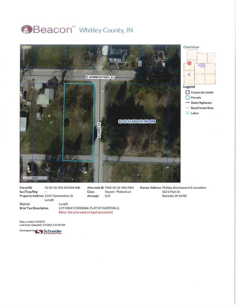 Photo of 214 E Hammontreet Street, Larwill, IN 46764 (MLS # 202100335)