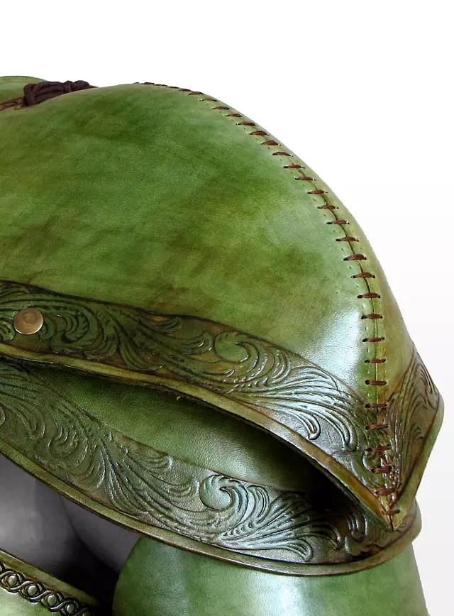 Elf Leather Armor leaf green  maskworldcom