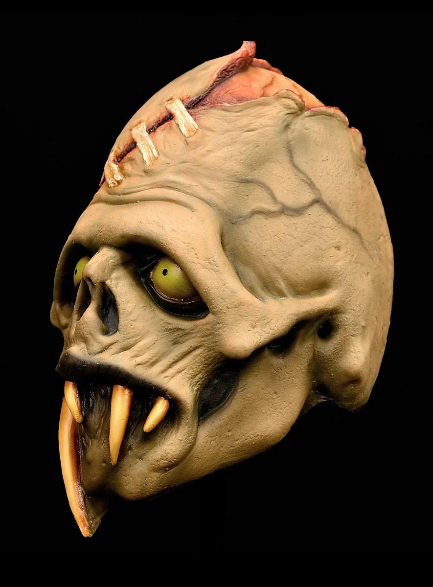 Toxic Toons Green Fang Latex Full Mask Maskworld Com