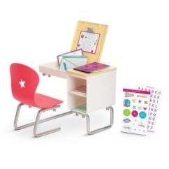 American Doll Chair Carl And Ellie Chairs Flip Top Desk For Dolls Truly Me Girl