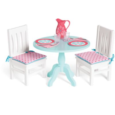 american doll chair fishing gimbal tables chairs girl table set for dolls