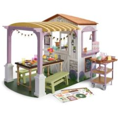 American Girl Doll Chairs Office Chair Covers Australia Accessories Furniture Blaire S Family Farm Restaurant