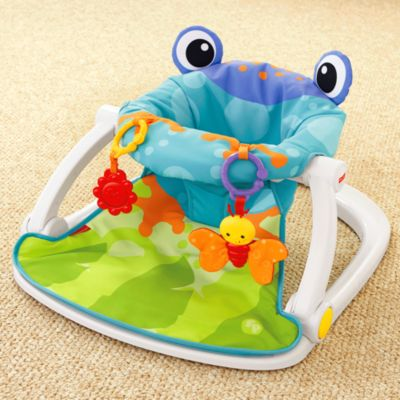 fisher price sit and play chair fishing with wheels me up floor seat frog bfb07 image for from mattel