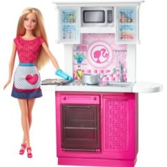 Barbie Kitchen Playset Dining Chair Pads Doll And Deluxe Cfb62 Image For Brb Dl From Mattel