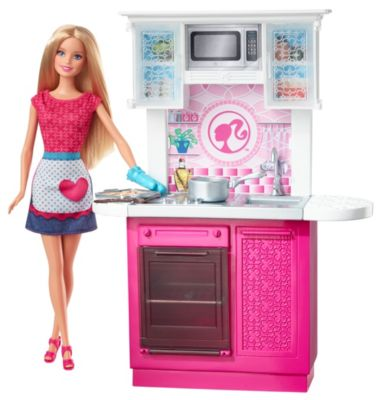 barbie kitchen playset faucets for doll and deluxe cfb62 image brb dl from mattel