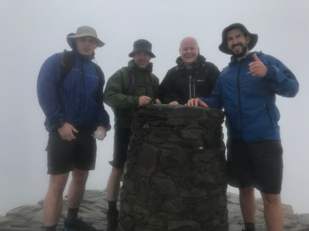 Team Synergy top of Snowdon
