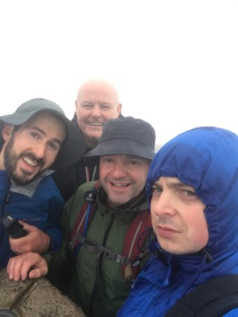7am Team Photo at the Summit of Ben Nevis