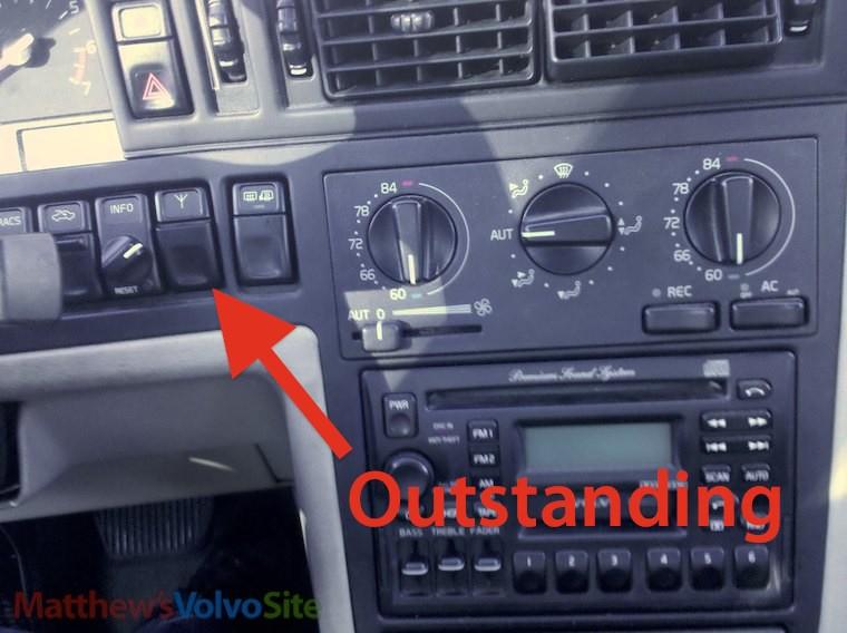 98 Volvo S70 Dash Switch Wiring