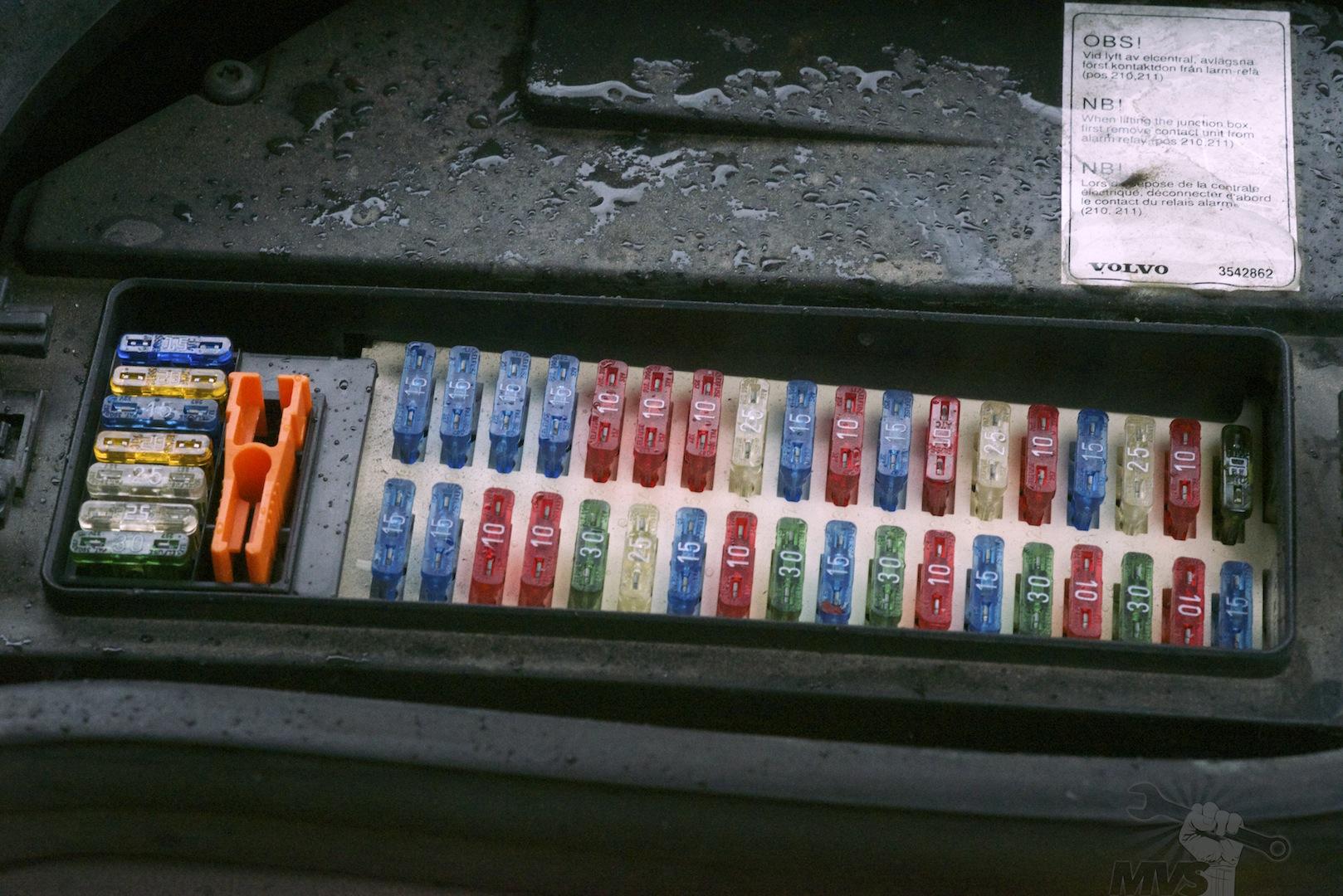 2008 volvo c70 fuse box