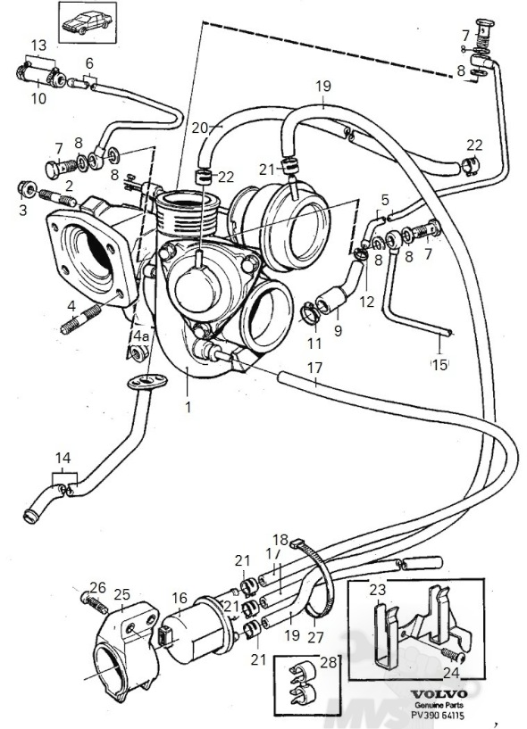 Volvo 850 Turbo Vacuum Diagram, Volvo, Free Engine Image