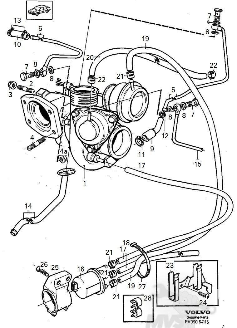 vacuum diagram 23l fwd turbo volvo 850