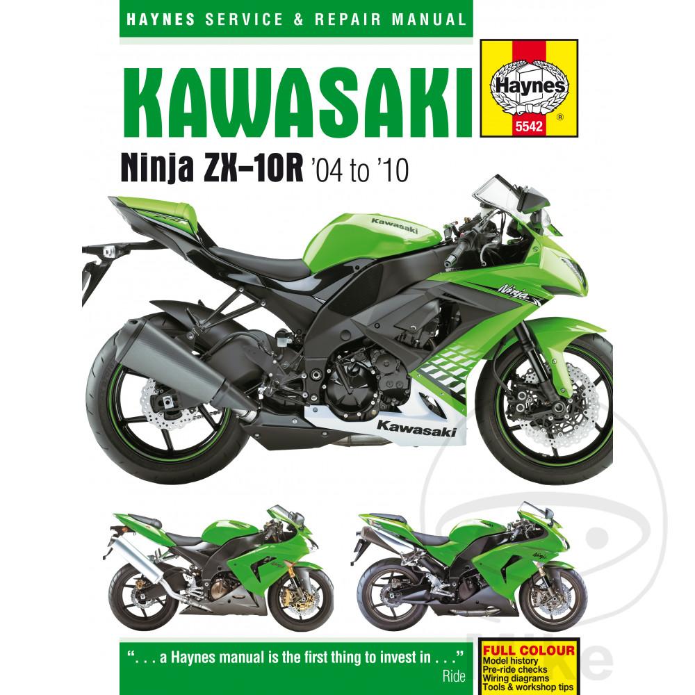 hight resolution of details about kawasaki zx 10r 1000 c ninja 2004 haynes service repair manual 5542