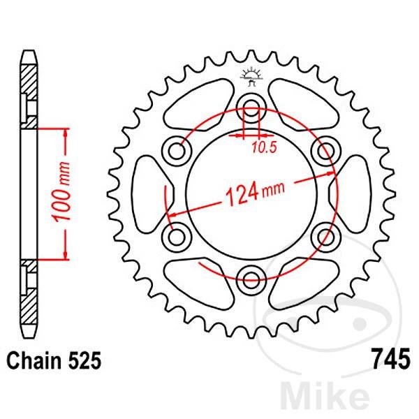 JT Rear Sprocket 38T 525P JTR745.38 Steel Ducati ST4S 996
