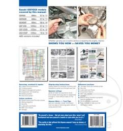 sentinel motorcycle haynes service repair manual 4798 suzuki  [ 1000 x 1000 Pixel ]