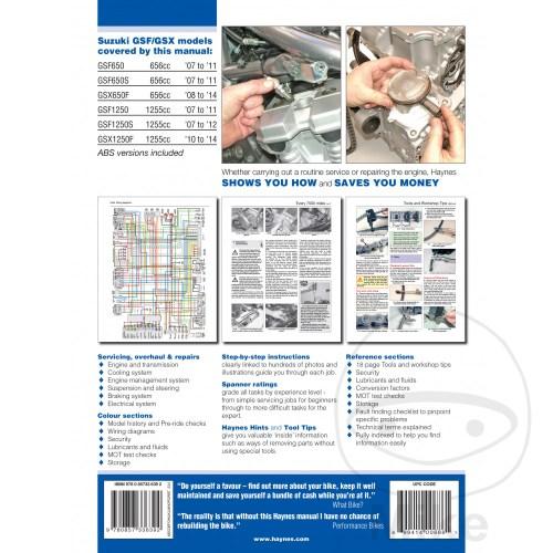 small resolution of sentinel motorcycle haynes service repair manual 4798 suzuki