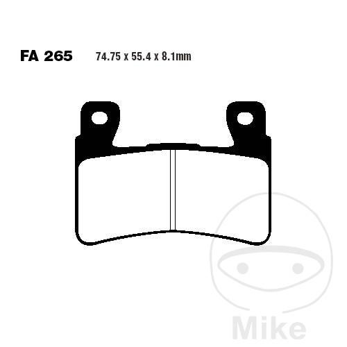 EBC HH Sintered Front Brake Pads FA265HH Honda CBR 900 RR