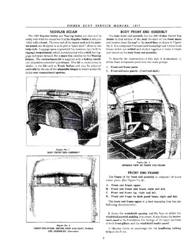 1937 1938 Pontiac Shop Service Repair Body Manual Cd