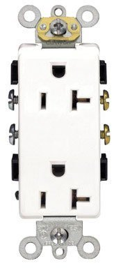 Leviton R42-16352-w Decora Plus Grounded Duplex Outlet