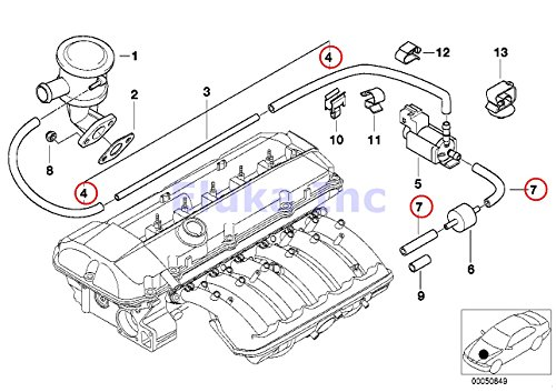 Bmw Genuine Turbo Charger Vacuum Hose 3 5 X 7 Mm Outside