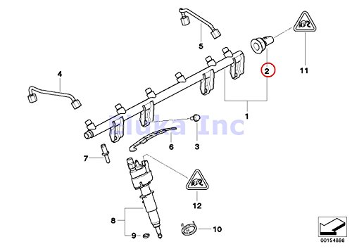 2 X Bmw Genuine Fuel Injection Pressure Sensor High 535i