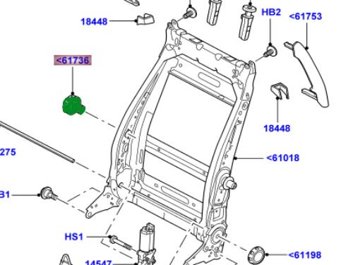 Land Rover Genuine Front Seat Lumbar Manual Handle Lr3 Lr2