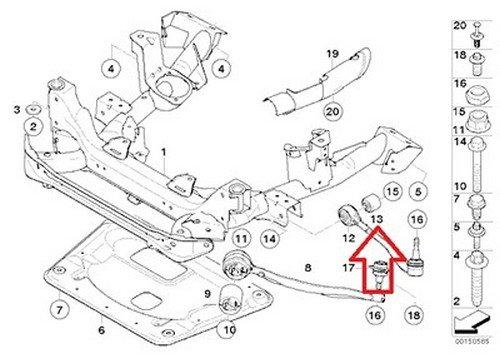 Bmw Oem Bushing for Control Arm E24 E28 E31 2 E E83 E83n