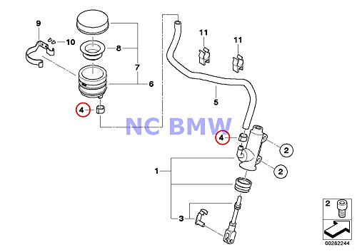 4 X Bmw Genuine Motorcycle Hose Clamp D 12 3mm R1100gs