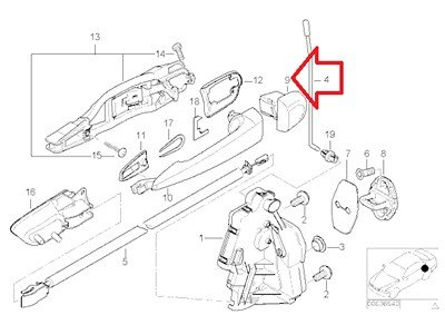 Bmw Genuine Outside Door Handle Cover Primered Rear Right