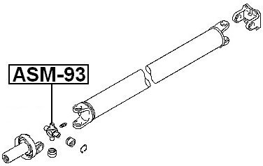 Febest Asm-93 Universal Joint