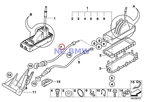 Bmw Mini Genuine Shift Cable Manual Transmission 1000 Mm