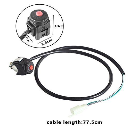 Zxtdr Kill Switch for Motorcycle Atv Dirt Bike Stop Horn