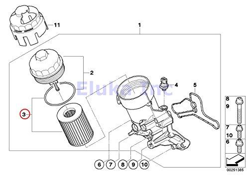 Bmw Genuine Lubrication System Engine Oil Filter Kit M3