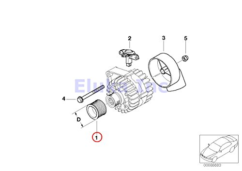 Bmw Oem Alternator Pulley Overrunning Type 525i 525xi 530i