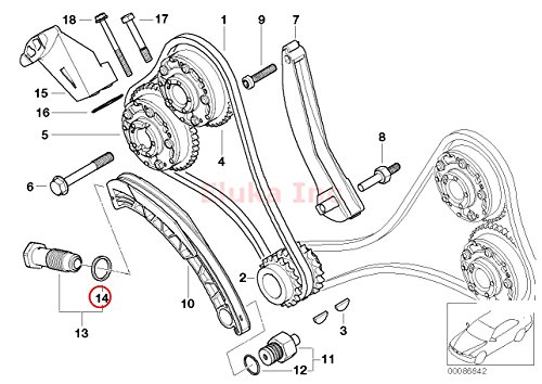 Bmw Genuine Aluminum Washer Timing Chain Tensioner 22 X 27