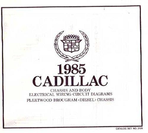 1985 Cadillac Fleetwood Brougham Wiring Diagrams