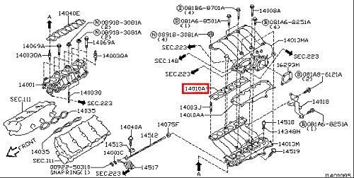 Infiniti 14033-4w000 Fuel Injection Plenum Gasket