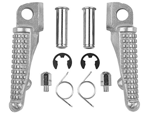Tcmt Silver Front Foot Pegs Motorcycle Footpeg Footrest