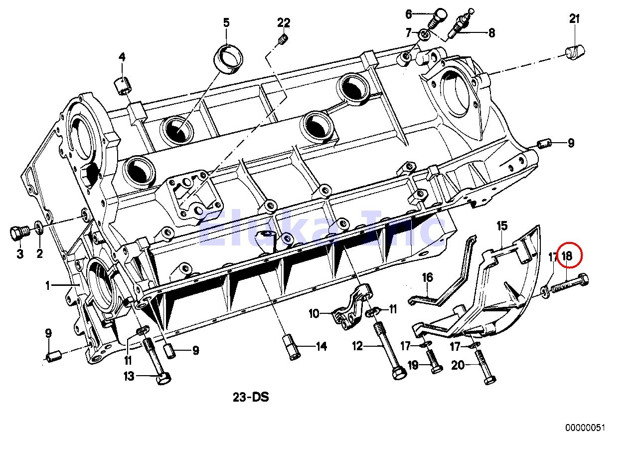 Bmw Genuine Bolt Auto Manual Trans Bellhousing to Engine 8